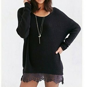 Urban outfitters pins and needles lace sweater